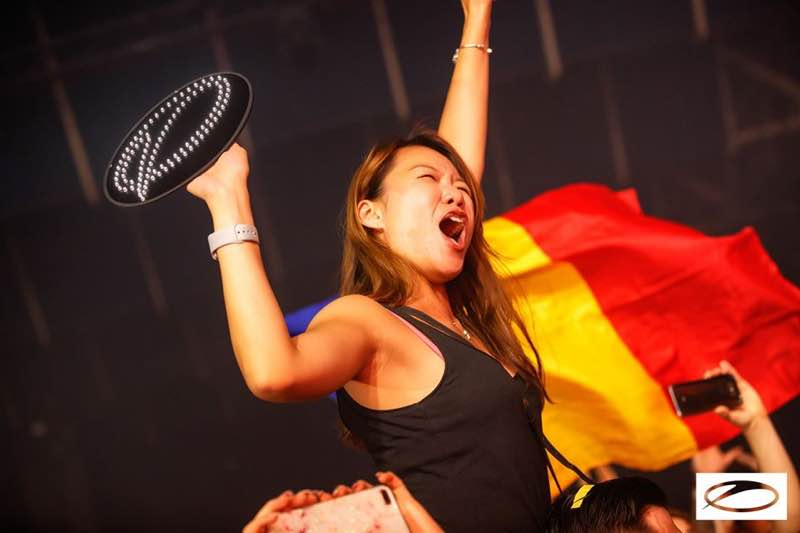 Fan excited at A State of Trance 950 London