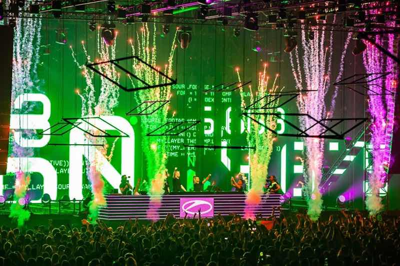 Fireworks at A State of Trance 950 London