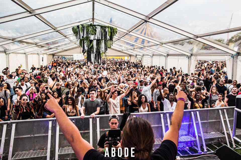 Hands up at Abode in the Park Festival