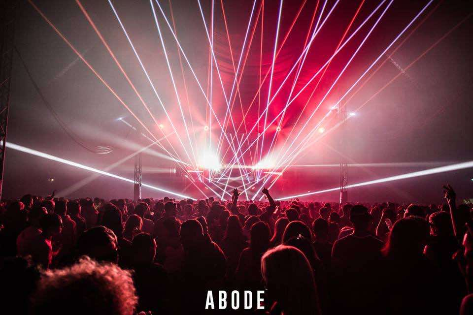 Laser show at Abode in the Park Festival