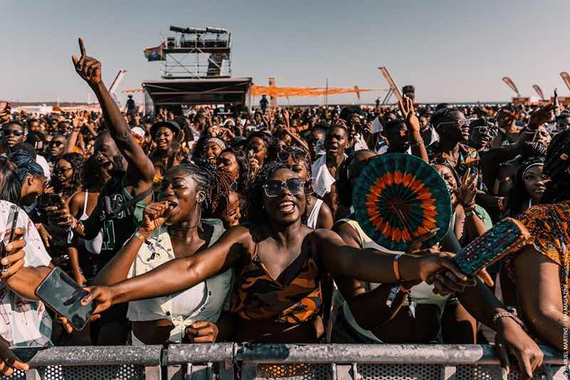 Front row fans at Afro Nation Festival