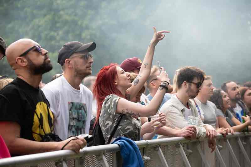 Front row fans at All Points East Festival