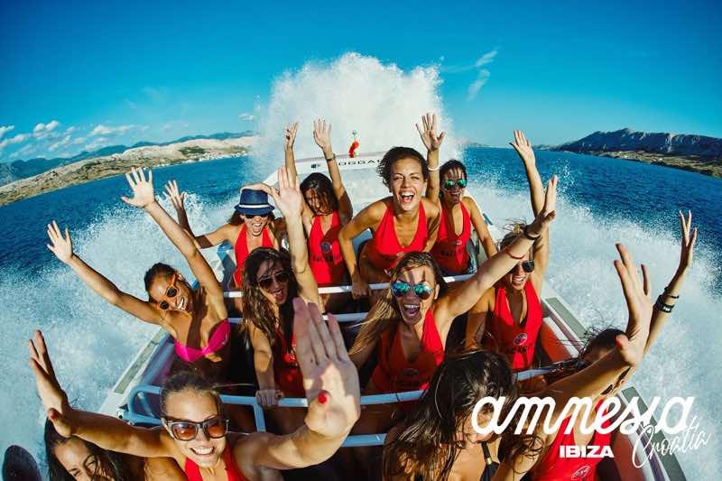 Cruising at Amnesia 7 days Ibiza takeover Croatia