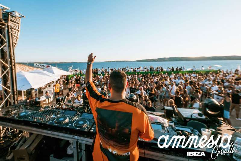 Dj box sea view at Amnesia 7 days Ibiza takeover Croatia
