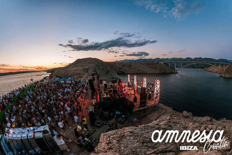 Outside stage at Amnesia 7 days Ibiza takeover Croatia
