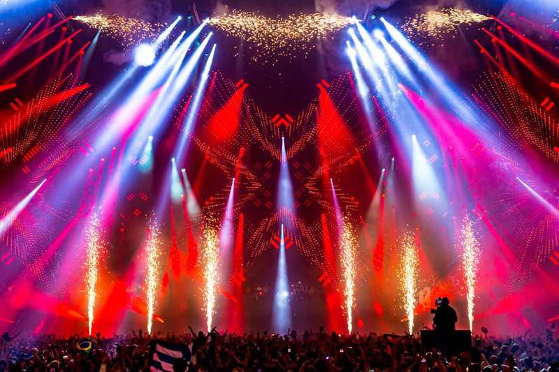 Amazing stage colours at amf amsterdam music festival