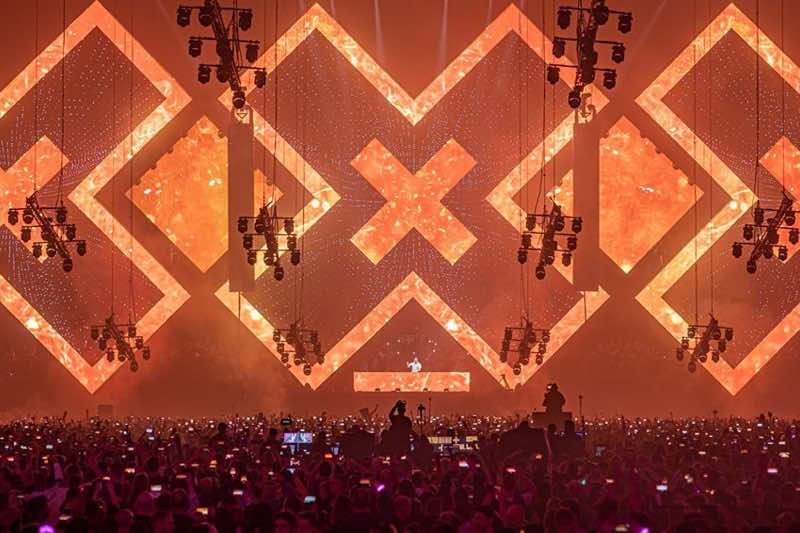 Majestic view at amf amsterdam music festival