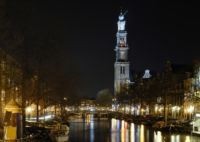 Amsterdam canals by night