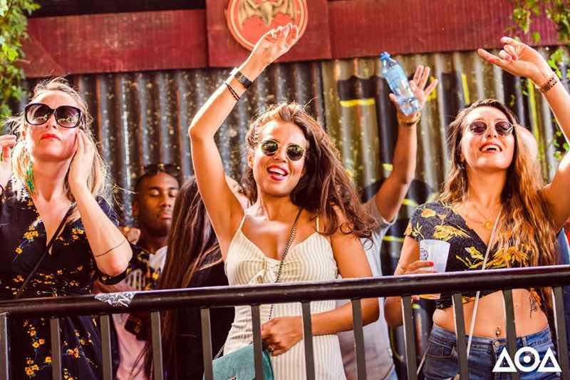 Fans dancing at Amsterdam Open Air Festival