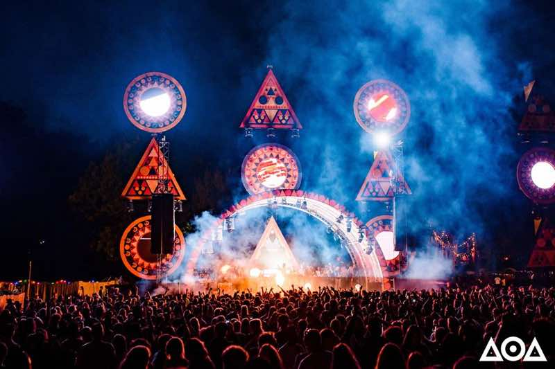 Lights show dancing at Amsterdam Open Air Festival