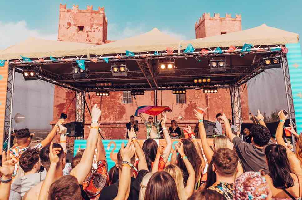 Dj box view with the castle at Annie Mac Presents Lost and Found Festival