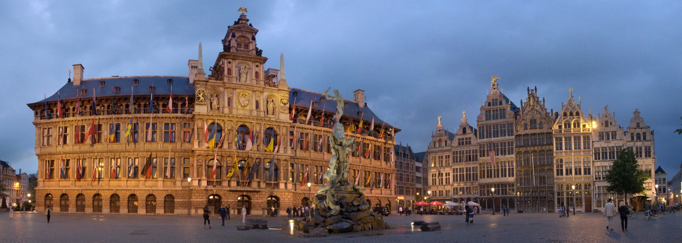 Grote Markt night lights in Antwerp