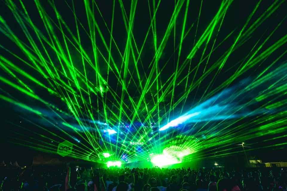 Laser show at Aquasella Festival