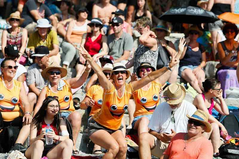Fans excited at Ardeche Aluna Festival