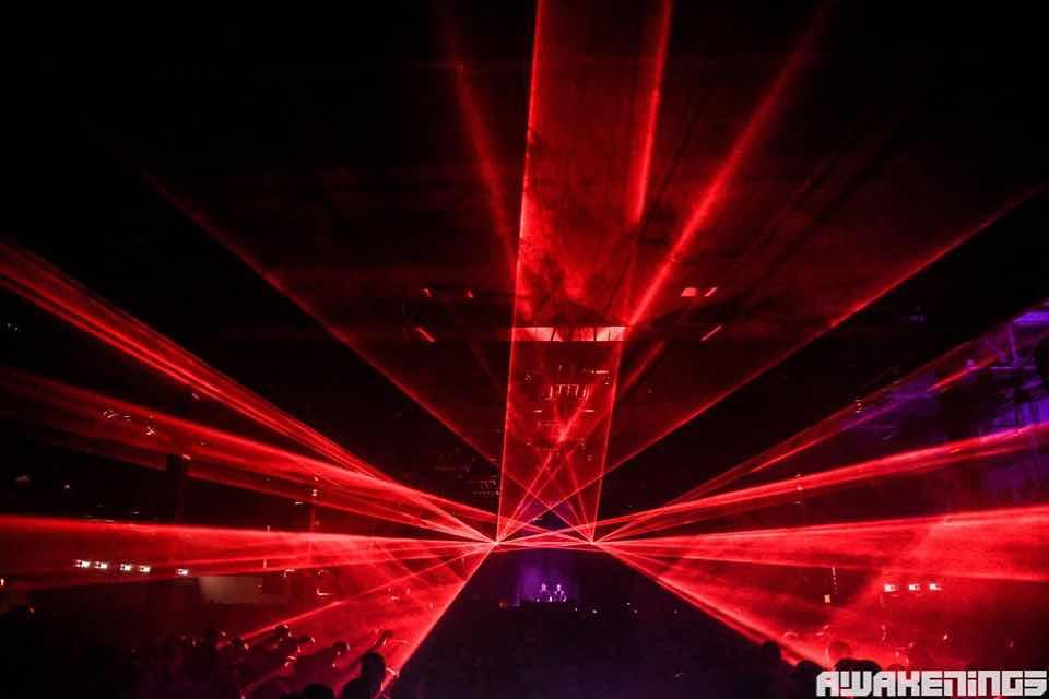 Laser show at Awakenings Eindhoven Festival
