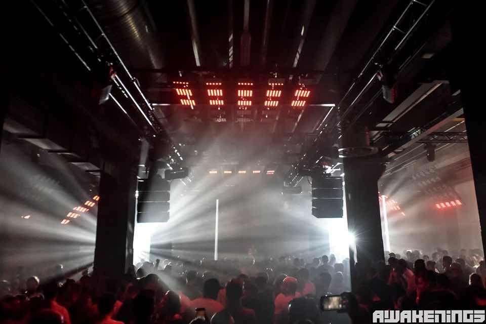 Lights show at Awakenings Eindhoven Festival