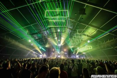 Indoor stage view at Awakenings Festival