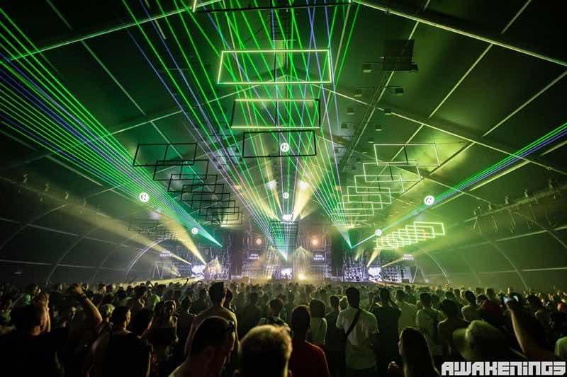 Laser show at Awakenings Summer Specials