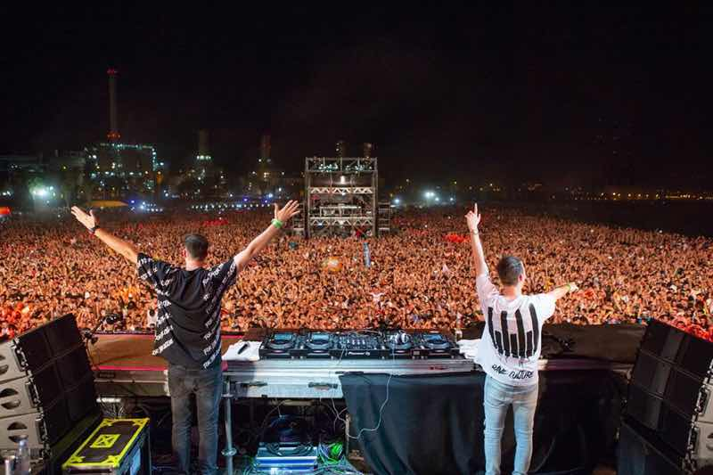 W&W performing at Barcelona Beach Festival