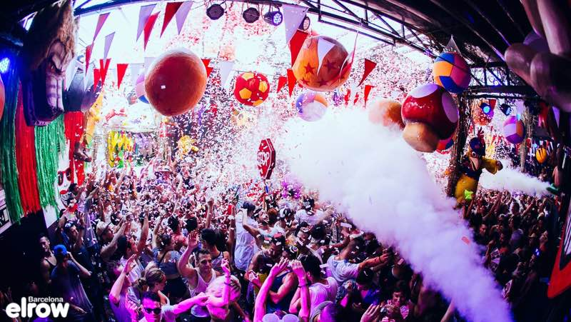 Best clubbing destinations Elrow Club in Barcelona