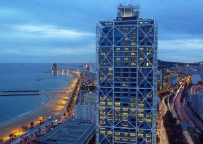 Coastline lights in Barcelona