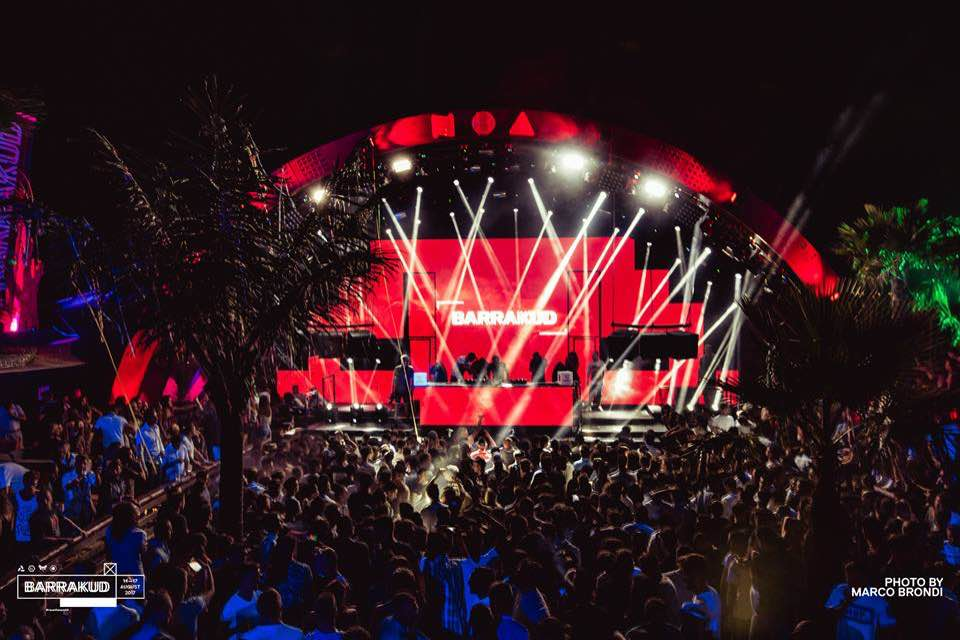 Lights show at Barrakud Croatia Festival