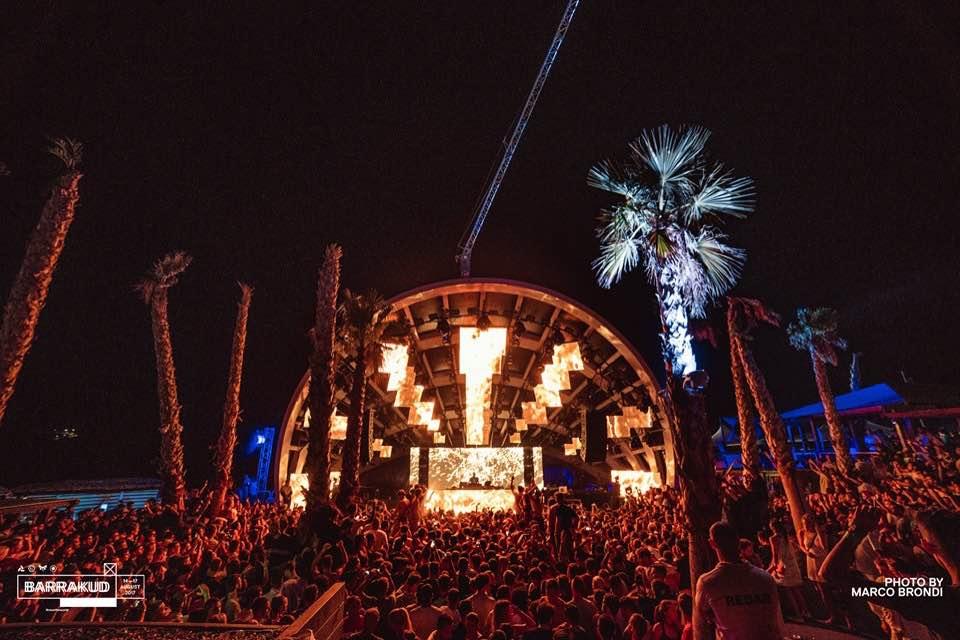 Lights on stage at Barrakud Croatia Festival