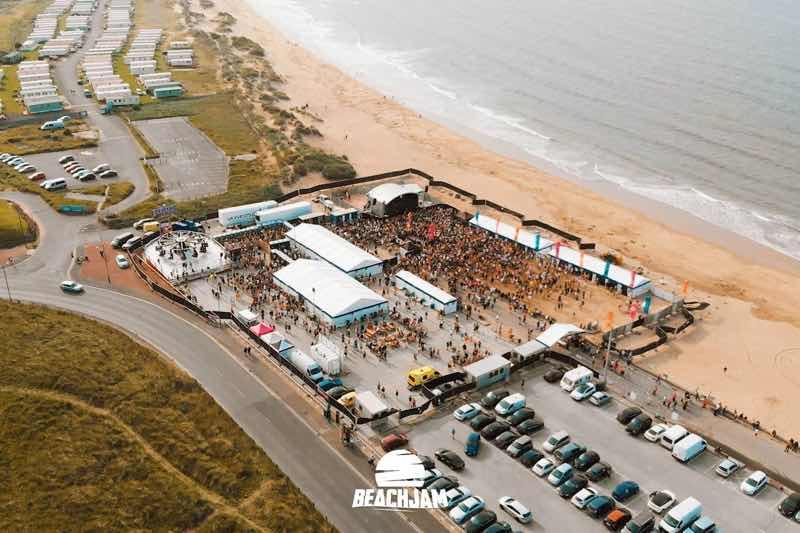 Location of Beachjam Festival