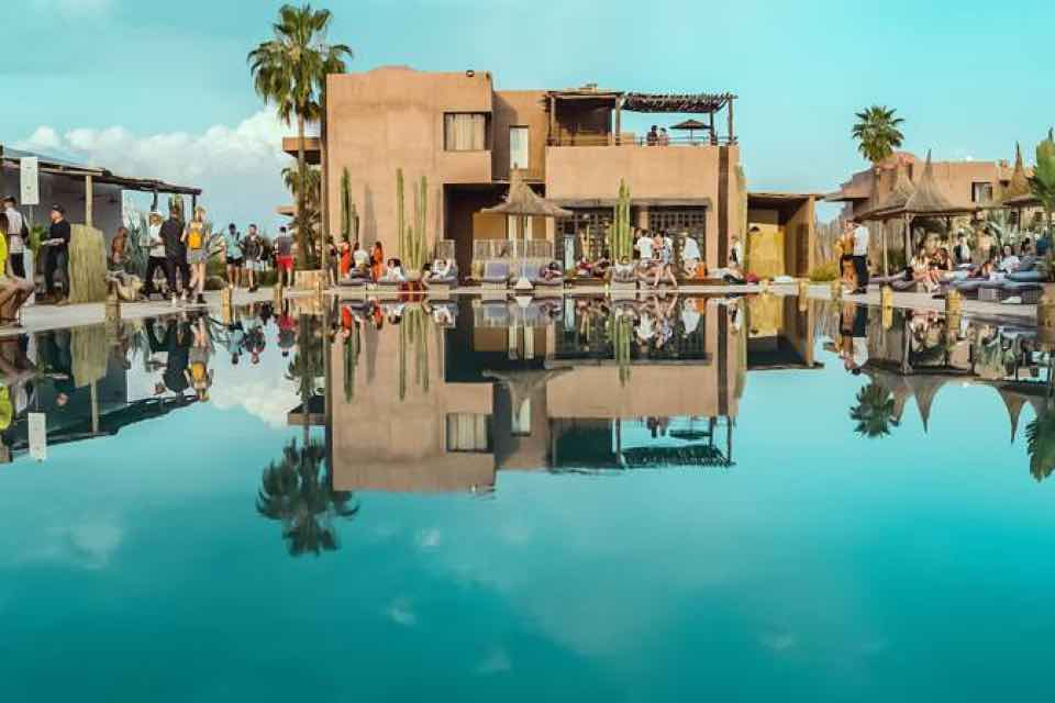 Pool view at Beat Hotel Marrakech Festival