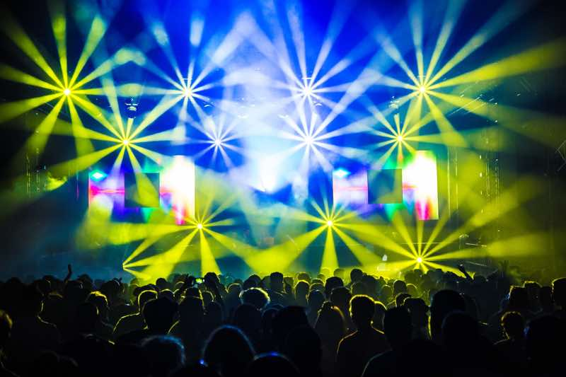 Stage lights show at Beautiful People Festival