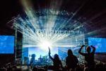 Stage lights at Best Kept Secret Festival