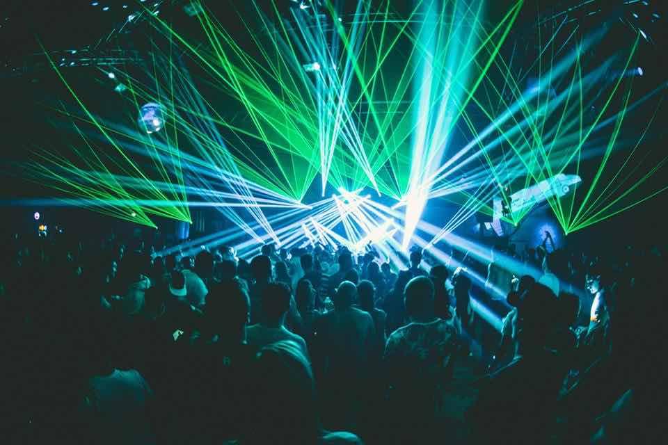Laser show on stage at Big Bang Festival