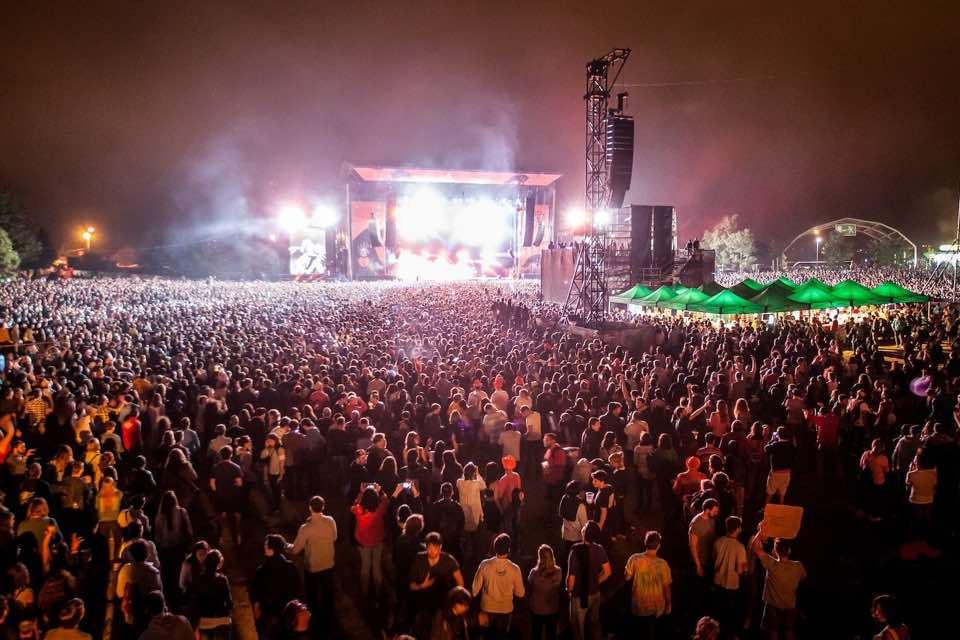 Endless crowd at bilbao bbk live festival