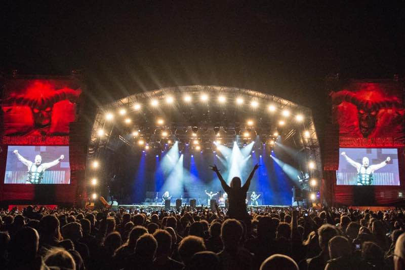 Stage lights show at Bloodstock Open Air Festival