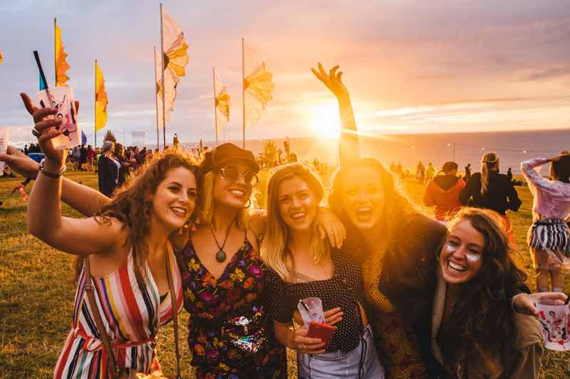 Fans enjoying at Boardmasters Festivals