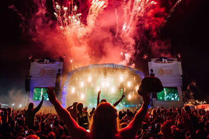 Fireworks at Boardmasters Festivals
