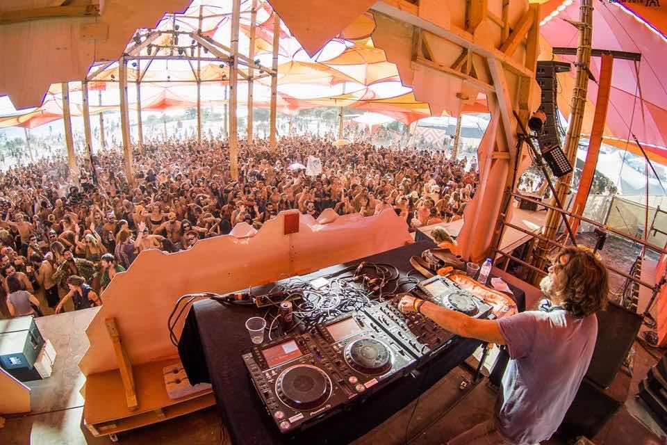 Dj mixing at boom festival