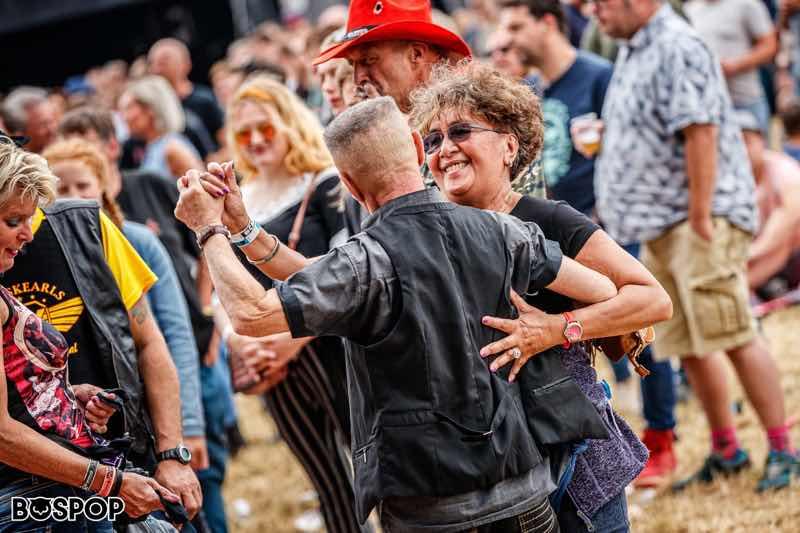 Fans dancing at Bospop Festival