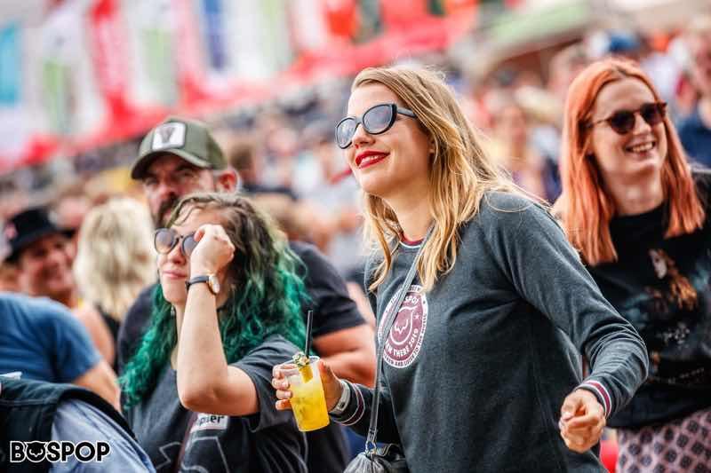 Fans enjoying at Bospop Festival