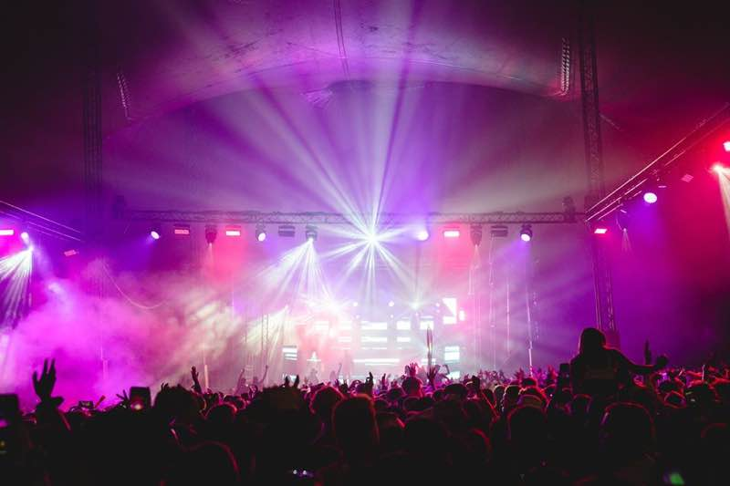 Stage lights show at Boundary Festival Brighton