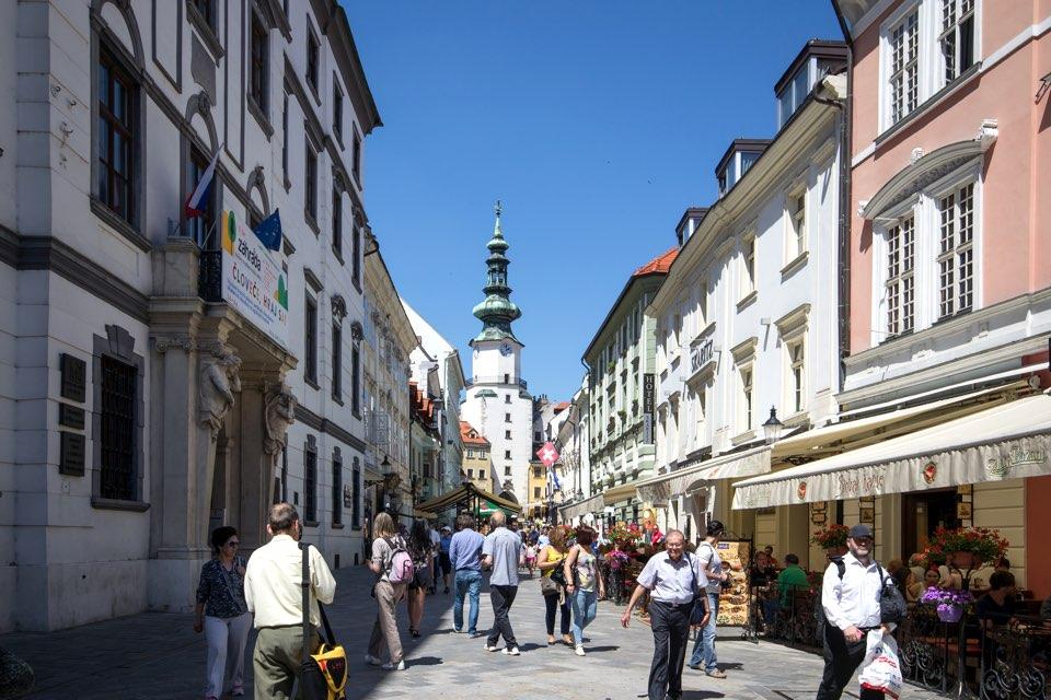 Main Street in Bratislava