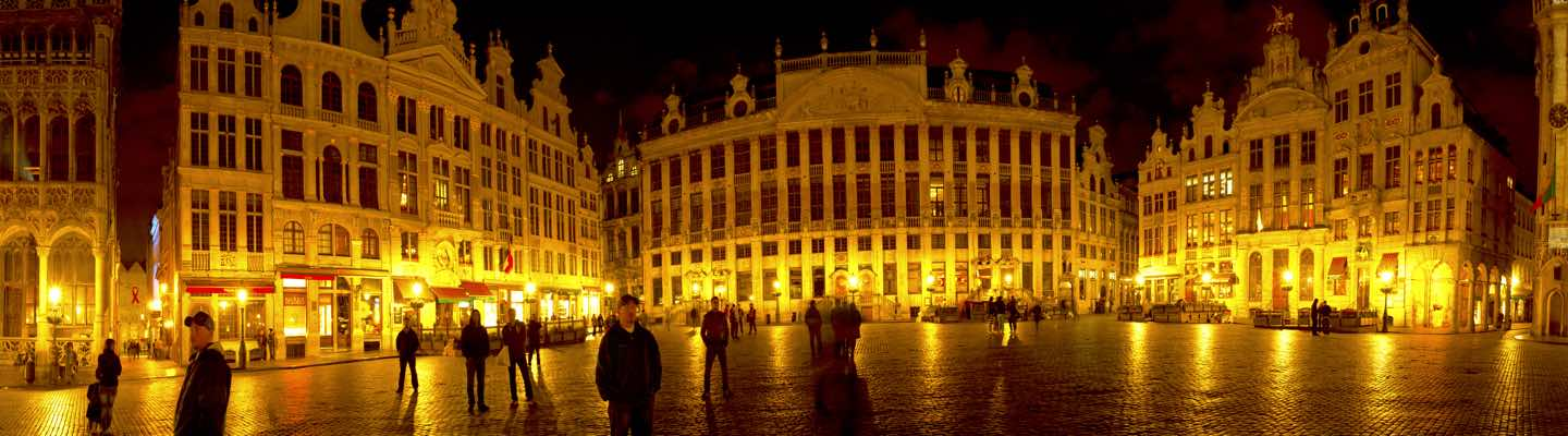 Night Lights at Grand Place in Brussels