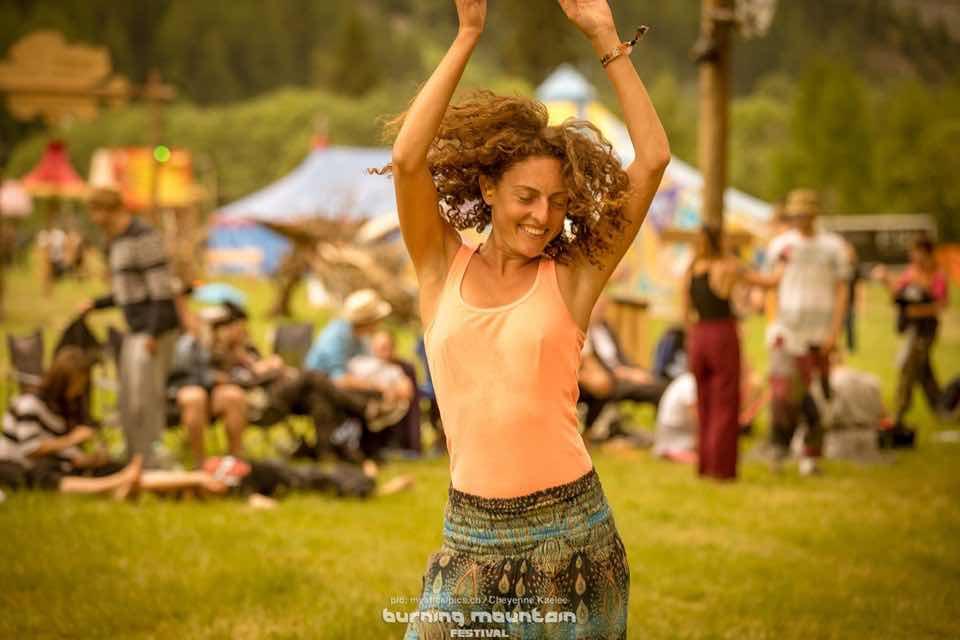 Enjoying at Burning Mountain Festival