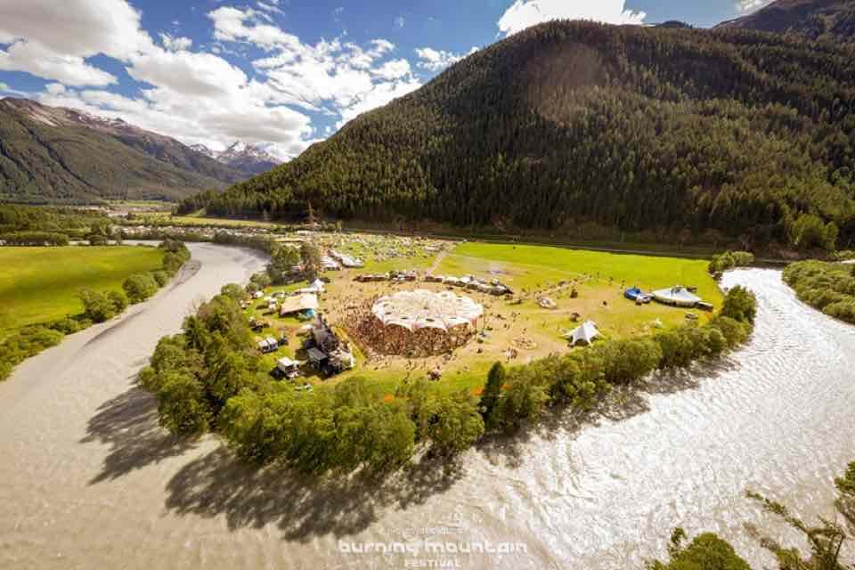 Landscape of Burning Mountain Festival