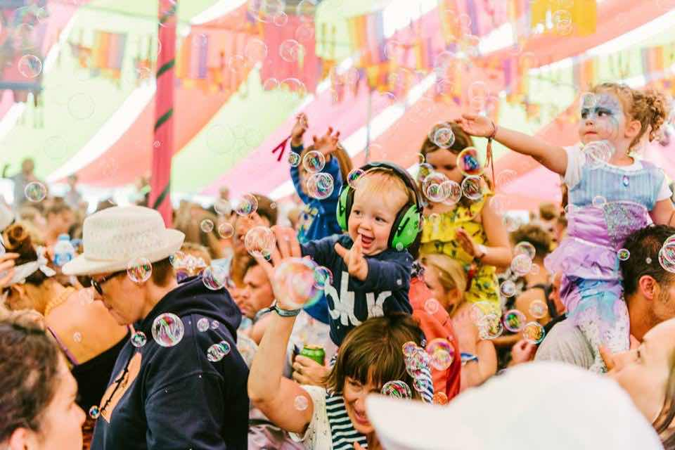Baby fans at Camp Bestival