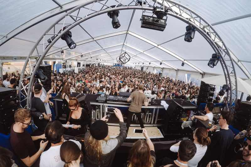 Stage view at Caprices Festival