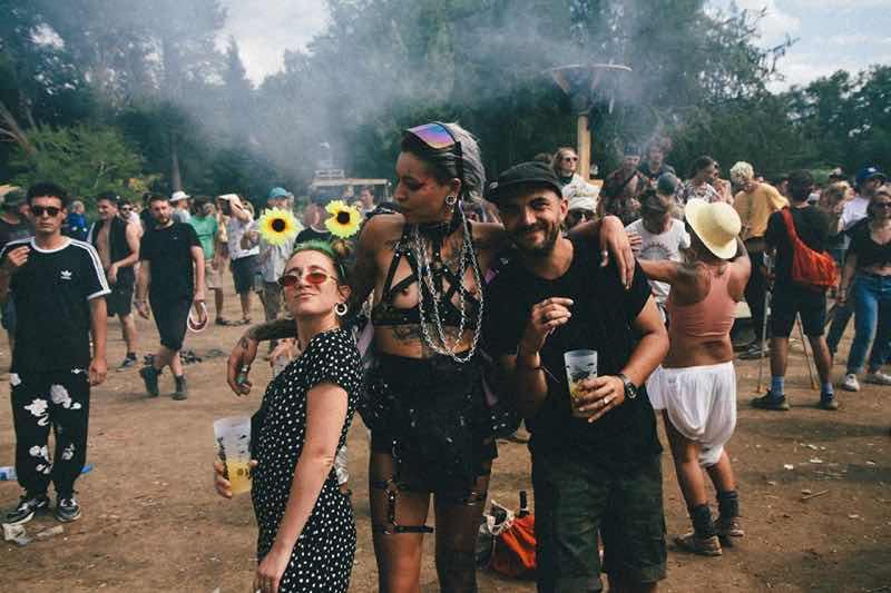 Fans enjoying at Chateau Perche Festival