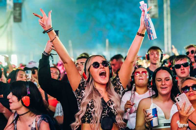 Fans excited at Creamfields Festival