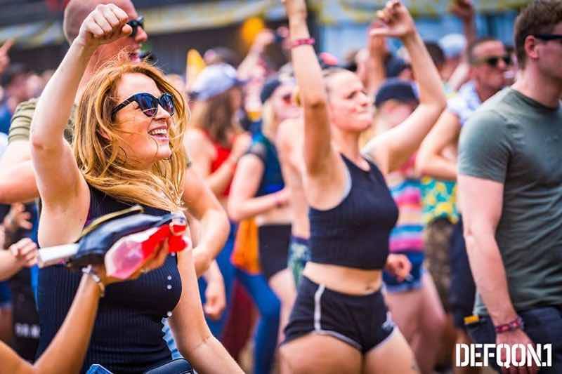 Fans enjoying at Defqon 1 Weekend Festival