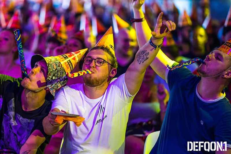 fans having fun at Defqon 1 Weekend Festival